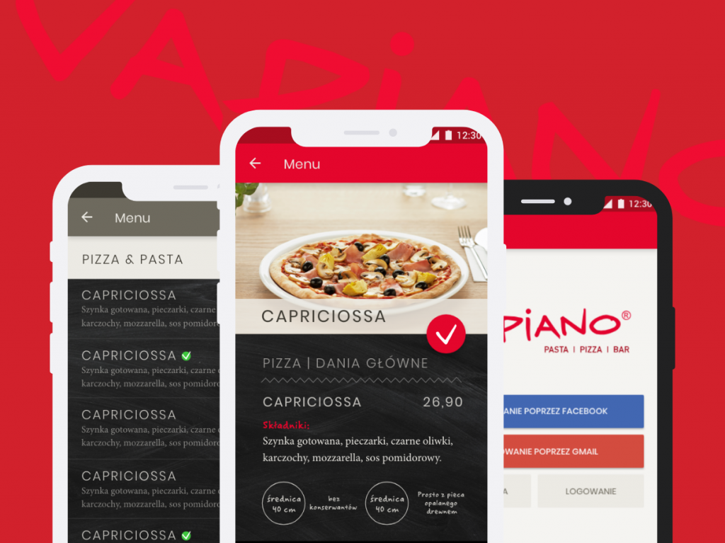 Vapiano project made by Winalife