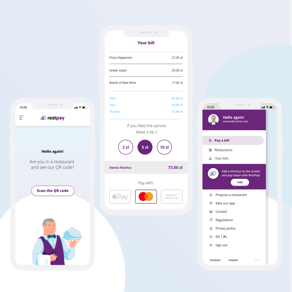 RestPay project made by Winalife